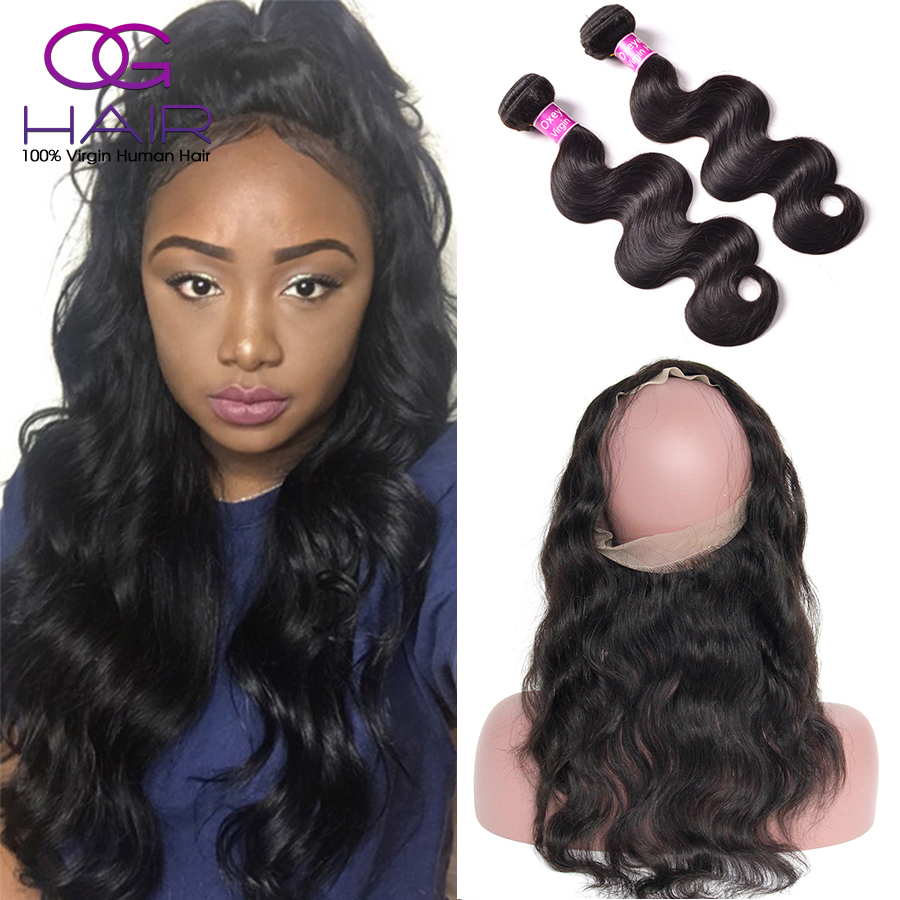 360 Frontal Band With Bundles Body Wave Peruvian Virgin Hair With Frontal Full 360 Lace Frontal Closure With Bundles Human Hair<br><br>Aliexpress