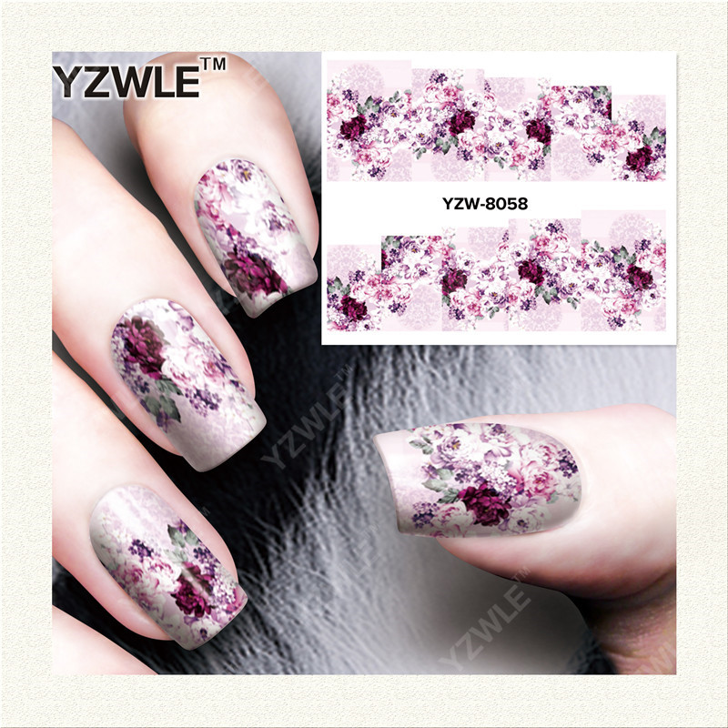 YZWLE 1 Sheet DIY Decals Nails Art Water Transfer Printing Stickers Accessories For Manicure Salon YZW-8058<br><br>Aliexpress