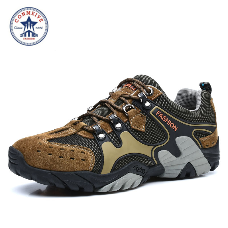 new arrival trekking outdoor sports shoes climbing camping sapatilhas sneakers men mountain hiking randonnee lace-up rubber<br><br>Aliexpress