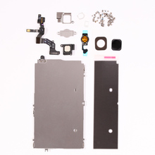Full Set Parts  For iPhone 5 LCD Display Touch Digitizer Metal Bracket Front Camera Ear Speaker Plate home button Repair Parts