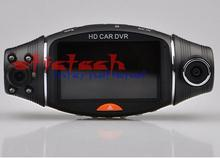 by dhl or ems 5 sets HD Car DVR R310 dual lens 270 degree rotate GPS tracking G-sensor IR Vehicle Camera Cam Video Recorder