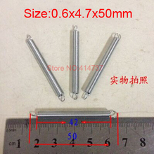 20pcs/lot 0.6*4.7*50mm  0.6mm wire Carbon steel with zinc extension tension spring springs
