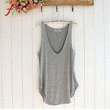 Buy FEITONG Female T-shirt Fashion Summer Woman Lady Sleeveless V-Neck Candy Vest Loose Shirt Tops shirt Tees Casual Solid Clothing for $2.81 in AliExpress store