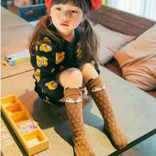 Lovely Children Baby Toddlers Girls Fox Knee High Warmer Socks Soft Cotton Comfortable Hosiery(China)