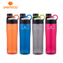 Santeco Oural Series Lightweight Water Bottle BPA-free Tritan Flask Sports Bottle With O-ring handle 740ml(China)