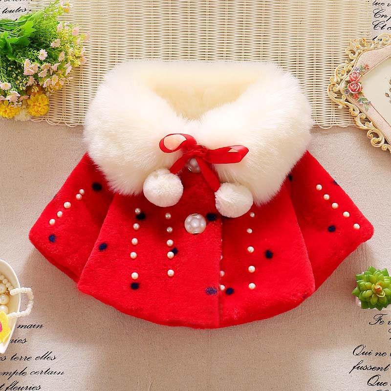 2017  Autumn&amp;winter fashion girls baby Plush cloak coat Korean style childrens turn-down collar Single breasted Jacket clothingÎäåæäà è àêñåññóàðû<br><br>