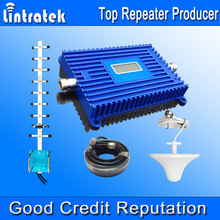 Lintratek Cell Booster GSM 1900MHz UMTS1900 Cell Phone Amplifier Yagi PCS 1900 3G Repeater LCD Cell Phone Signal Booster Kit @