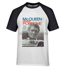 STEVE MCQUEEN T-SHIRT BULLITT FORD Mans raglan tee shirt fashion brand men T-shirt summer present