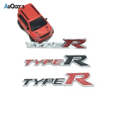 Car Styling 3D TYPER TYPE R Racing Emblem Badge Decal Car Sticker for HONDA Civic City CR-V XR-V HR-V Accord Auto Accessories(China)