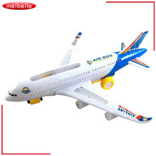 New2015 New Electric Airplane Child Toy Toys Moving Flashing Lights Kids Toy DIY Assembly Aircraft Gift