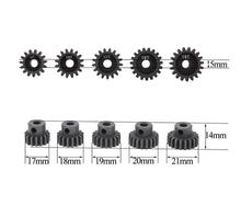 Free Shipping 5pcs GoolRC motor gear set M1 5mm 15T 16T 17T 18T 19T metal gear for 1/8 RC Car brushed brushless motor