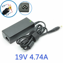 5.5mmx2.5mm Newest Replacement AC Adapter Power Supply Charger Cord for Toshiba 19V 4.74A 90W Laptop Notebook For ASUS Delta