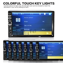 2017 New  2 Din 7'' inch LCD Touch screen car radio player support BLUETOOTH hands free 1080P movie rear view camera car audio