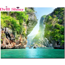 Diy diamond painting cross stitch lake rhinestone puzzle pasted painting square drill landscape patchwork accessories gift decor
