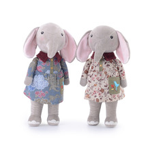 30cm new original angela metoo forest lucky elephant cute sweet plush toy doll couple elephant blue a generation angela()