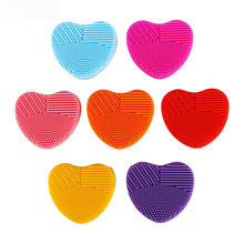 Silicone Brush Cleaner Cosmetic Make Up Cleaning Washing Tools Makeup Brushes Scrubber Board Washing Brush Cleaner Tool