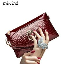 2017 new fashion women's hand bag crocodile pattern hand bag leisure handbag shoulder Messenger bag tide female hand bag