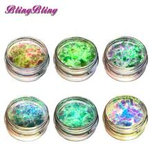 1 Box Chameleon Flakes Multichrome Nail Glitter Powder Bling Nail Flecks Powder Shimmer Nail Art Glitter Dust Galaxy Powder