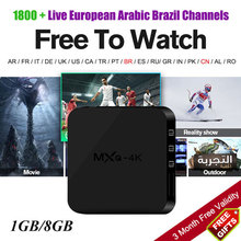 Buy MXQ 4K Free Arabic French Brazil Europe Italia France Russian Spain Portugal IPTV Code RK3229 Quad Core Android Tv Box 7.1 for $29.99 in AliExpress store