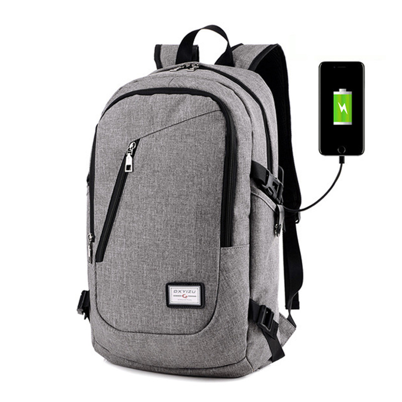 2017 Men Backpack USB Charging Mochila For laptop Notebook Computer Backpacks Students School Rucksack Black Gray mochila XA163H<br><br>Aliexpress