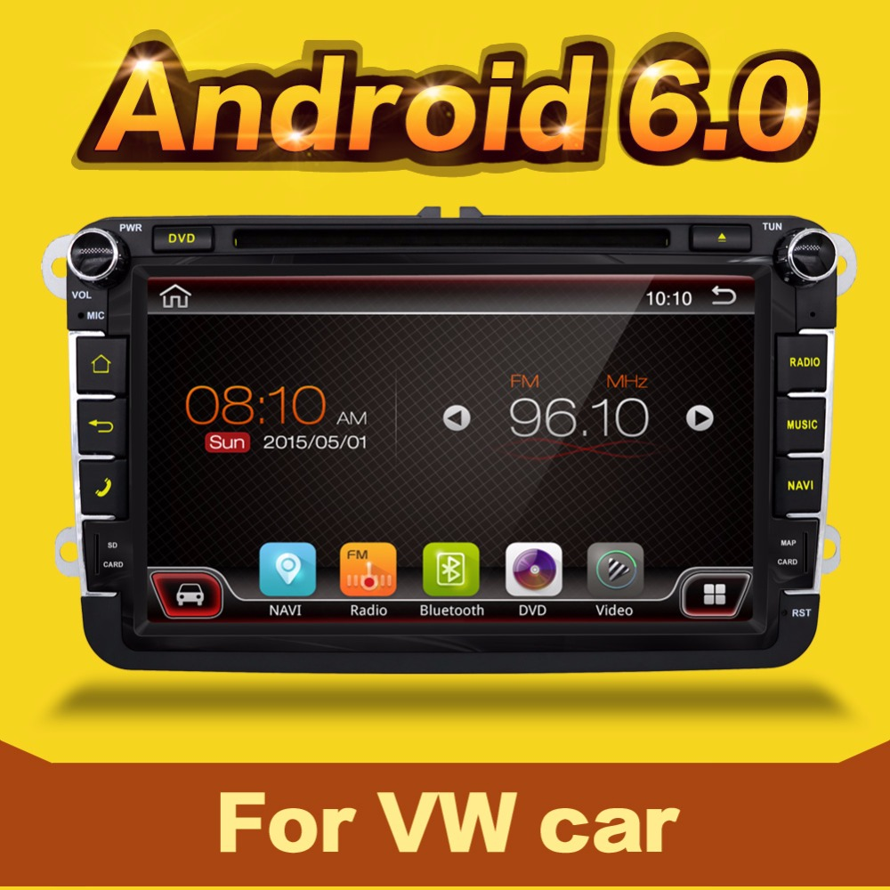 2 din android 6.0 For VW GOLF PASSAT B6 JETTA POLO CC TIGUAN OCTAVIA Car DVD Player GPS+Radio+BT+USB +SWC+Mirror link DAB(China (Mainland))