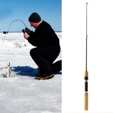 60CM Portable Pocket Winter Ice Fishing Fish Rod Mini Tackle Spinning Casting(China)