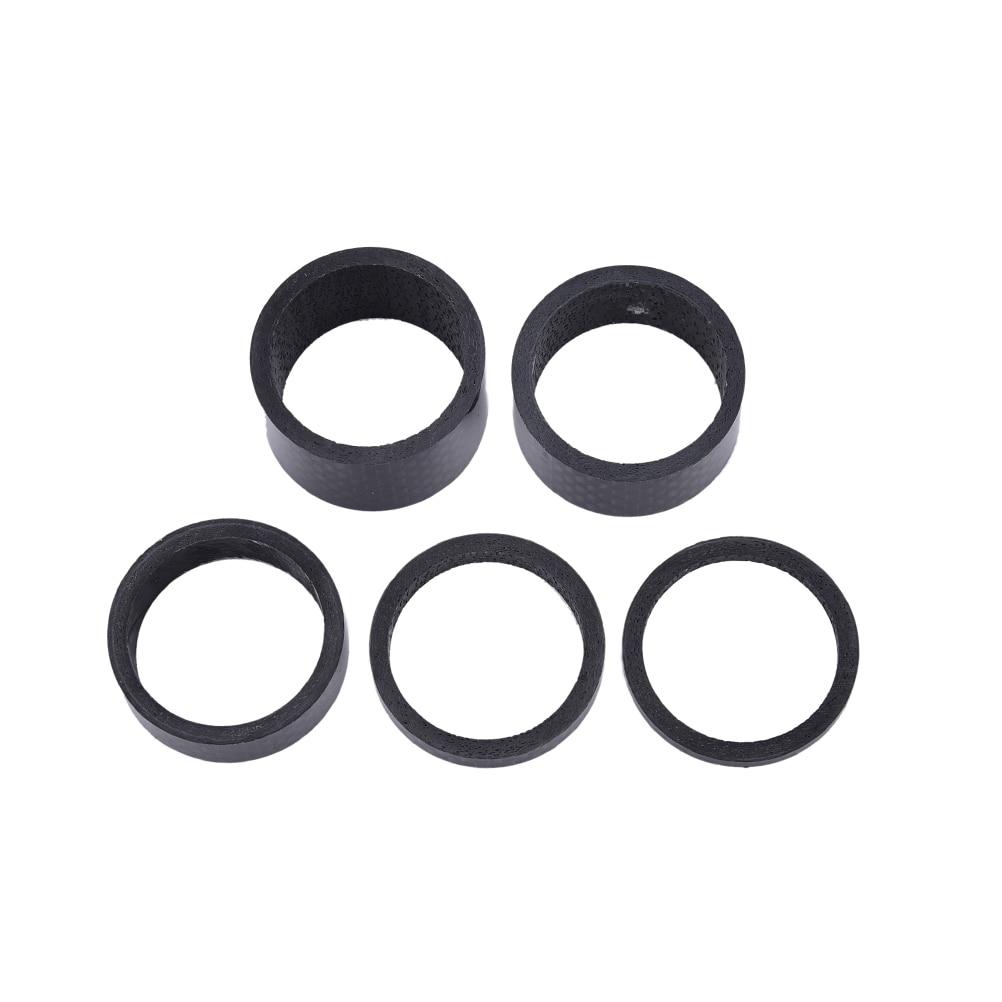 "3pcs 3K Bike Carbon Spacers 1-1//8/"" 15 10 5 mm MTB ROAD"