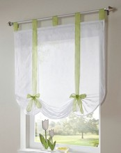 Free shipping new arrival tab top Sheer kitchen door  window curtain patchwork liftering roman blinds