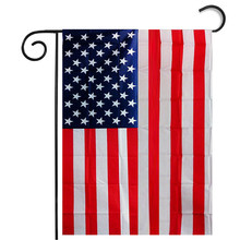Garden Flag Black White Red And Blue American Flag Vovotrade drop shipping and Wholesale(China)