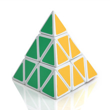 Shengshou Pyramid Shape Magic Cubes Ultra-smooth Speed Magico Cubo Twist Puzzle DIY Educational Toy for Children Gifts 2 Colors(China)