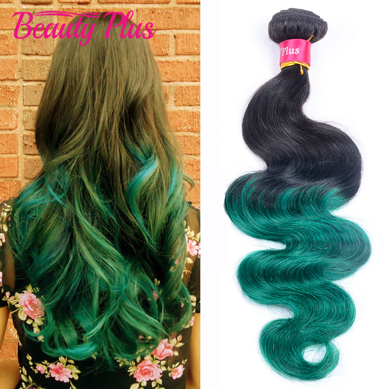 7A Best Ombre Teal Green Brazilian Hair 3 Pcs Lot Mint Green Two Tone Brazilian Weave Hair Black And Teal Ombre Hair Extensions<br><br>Aliexpress