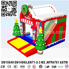 New Snowman Christmas Inflatable jumping Castle with slide Santa Claus Bounce House(China)