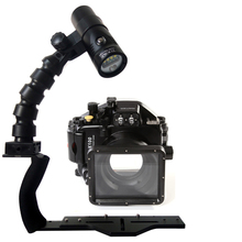 Underwater Waterproof Housing Diving Case for Panasonic GM1 LX100 Camera+ Lighting Flex Arm Bracket + Diving Led Video Torch