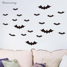 Dreamering New Fashion Cotton DIY PVC Bat Wall Sticker Decal Home Halloween Decoration Gifts Free Shipping,Oct 17