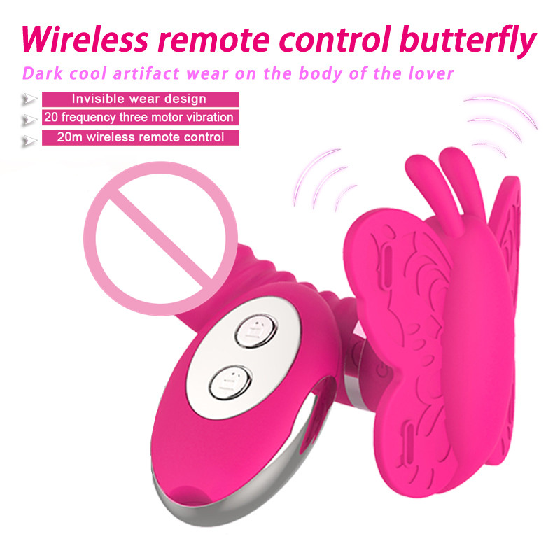 Sex Shop 20 Speeds Wireless Remote Control Invisible Strapon Dildo Butterfly Vibrator G Spot Clitoris Massage Sex Toys For Woman<br>