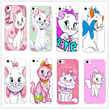 2016 New Fashion Popular Cute Marie Cat Protective Hard Case Cover For Apple iPhone 4 4S 5 5S 5C 6 6S 6Plus 6SPlus Free Shipping