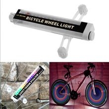 42 Patterns 16 Colorful LED Bicycle Bike Cycling Lights Wheel Spoke Light Lamp