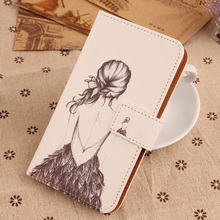 LINGWUZHE Book Style Flip Case Cell Phone Protective Bag Pouch PU Leather Cover for Fly Stratus 6 FS407 4''(China)