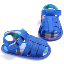 Newborn Summer Baby Boys Soft Sole Crib Toddler Shoes Sneakers Anti-slip Solid Fashion Shoes for Boys Booties for Newborns(China)