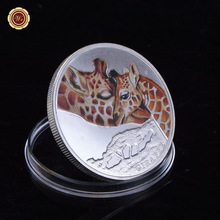 Collecting .999 Silver Plated Giraffe Souvenir Coin for Gifts