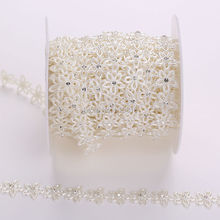 1 Yard 15mm Ivory Pearl And Rhinestone Chain Trims Sewing Costume Applique