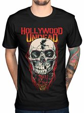 New 2017 Funny Simple Style High Quality Personality Hollywood Undead Day Of The Dead Skull Men's T-shirt Black