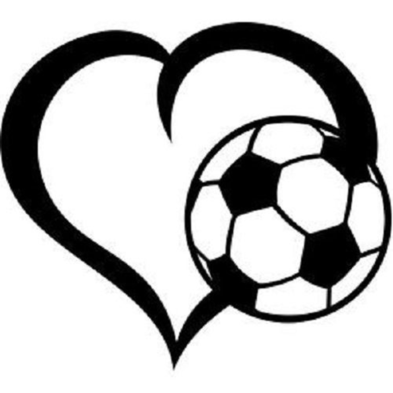 Love Heart Football Player Sticker Sports Soccer Car Decal Helmets Kids Room Name Posters Vinyl Wall Decals Football Sticker