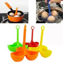 Silicone Egg Boiler Cooking 3 eggs holder Cooker Poacher Dipper Boiler Kitchen Tool 2AP28