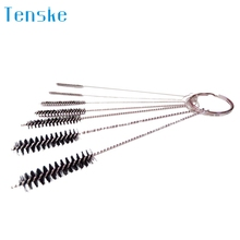 TENSKE Multi-Functional Tools Brush Spray Brush Kitchen House Work Cleaner Cleaning Supply Nylon Brushing Accessory 7Pcs