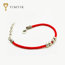 YimYik 5 pcs Chinese red string hand-woven Safe hands rope for Couple bracelet jewelry gifts(China)