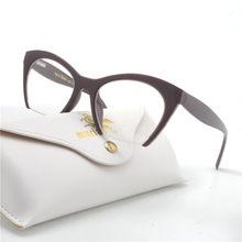 e628b8384df MINCL  Fashion Women Cat Glasses Frames Cat Clear Eyeglasses Ladies  Spectacles Frame Retro Women s Glasses Brand Designer NX