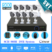 8 channel CCTV DVR NVR HVR 8pcs 900tvl security outdoor waterproof camera 8ch 960h 3g wifi dvr kit hdmi 1080p SK-080