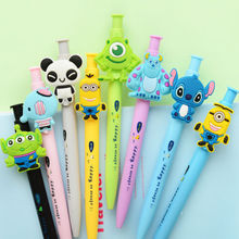 WESON 1PCS/lot Cute Kawaii Cartoon Character Members Gel Ink Pen Ballpoint Pen Promotional Gift Stationery Students Prize Gift(China)