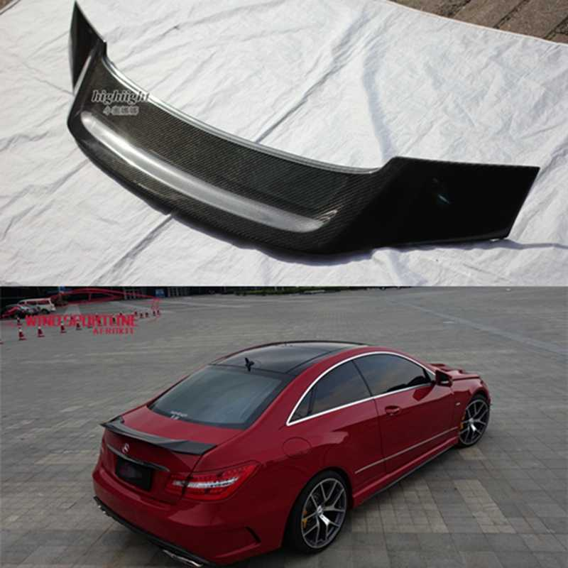 V Style Carbon Fiber Rear Trunk Wing Deck Lid by IKONMOTORSPORTS CF Trunk Spoiler Compatible With 2010-2017 Mercedes-Benz E Class W207 C207 2Dr Coupe